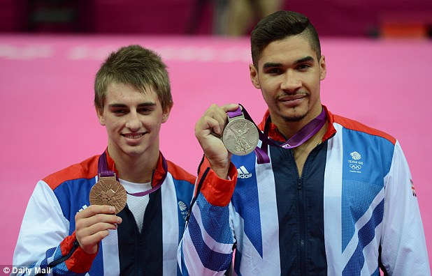 Two out of three: Whitlock, left, and Smith with their bronze and silver medals