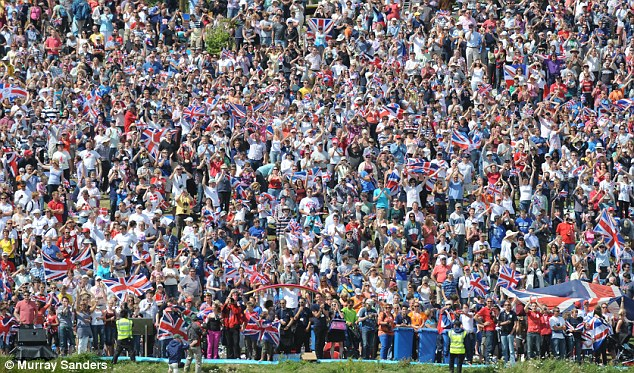 People could not hide their delight as they came in their droves to watch the sailors at the London 2012 Olympics