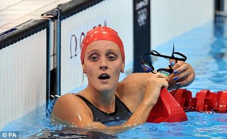 Lack of medals: Fran Halsall was one of the members of the British swimming team who did not win a medal