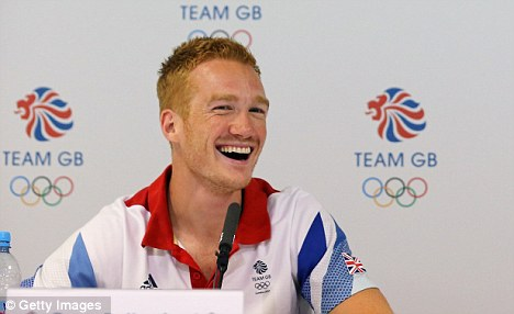 Surprise appearance: Greg Rutherford turned up at BOA's press conference