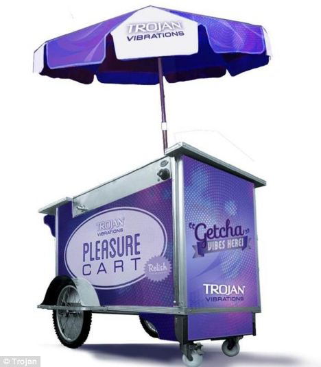 Stopping traffic: City Hall closed down the 'Pleasure Carts' because Trojan had no permit and crowds at the giveaway were blocking the roads