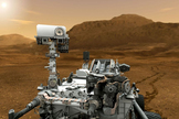 Artist's Conception of Curiosity Mars Rover
