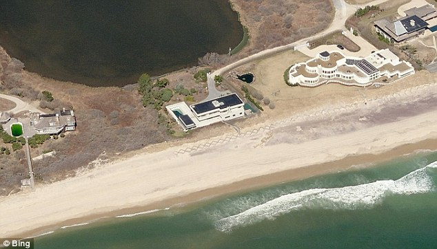 Wealthy: Eric Semler wanted to launch fireworks from his house in the Hamptons (center) to celebrate his son's bar mitzvah