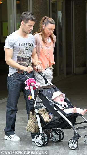 Support unit: Michelle was spotted with her husband and her daughter