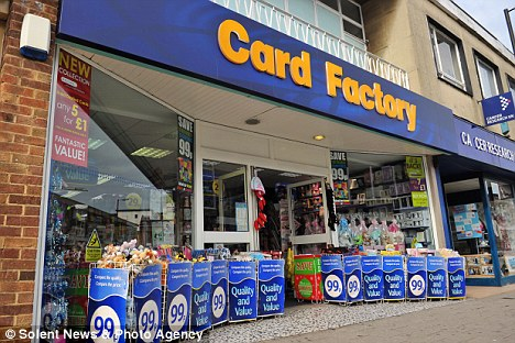 Premature: The Card Factory has stunned customers by stocking Christmas cards 19 weeks before the festive season