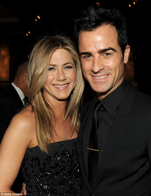 So happy: Jennifer Aniston said 'yes' to Justin Theroux's proposal during his birthday dinner on Friday night in New York City