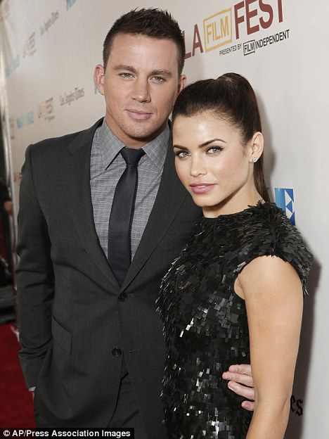 Glamour couple: Channing Tatum and Jenna at the Magic Mike premiere in June