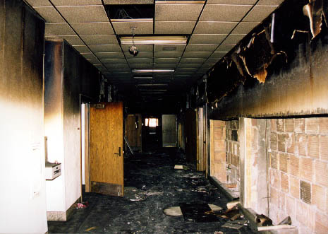 School Fire Damage