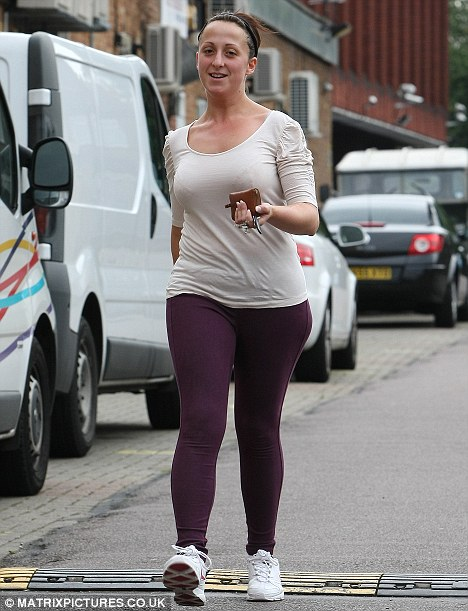 Casual: Judging by the star's attire, she could have been en route to a workout at the gym