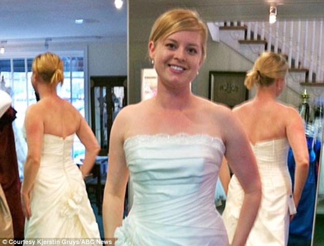 Mirror mirror: Kjerstin Gruys spent a whole year, including her wedding day, avoiding her reflection in mirrors to boost her self esteem