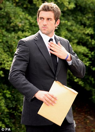 In court: Plunkett has been banned for a second time