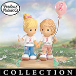 Precious Moments Best Of Friends Breast Cancer Charity Collectible Figurine Collection - Precious Moments Breast Cancer Collectible Figurines Offer Hope for a Cure with Donations! Ideal Breast Cancer Charity Gifts!