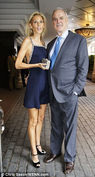 Romantic John Cleese, 72, with his 41-year-old wife Jennifer Wade