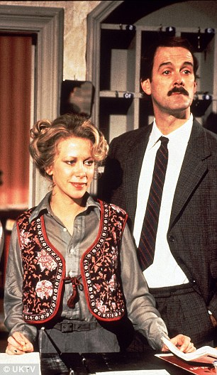 John Cleese on set with his Fawlty Towers co-star and third wife, Connie Booth
