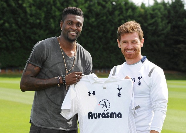 He's back: Emmanuel Adebayor has returned to Spurs on a permanent deal