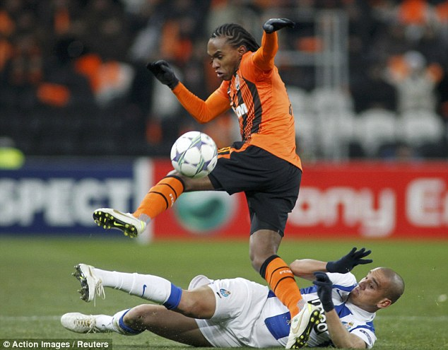 Next up? Shakhtar Donetsk's Willian (top) is a Tottenham target