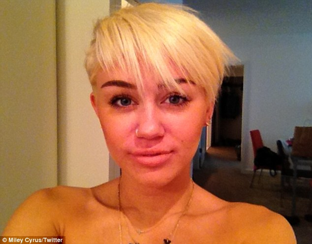 Starting a trend: Miley shocked fans when she unveiled her new look earlier this month