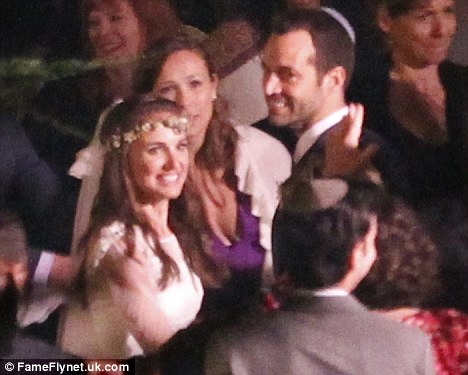 Happy couple: Natalie and Benjamin Millepied married in Big Sur, California, on August 4