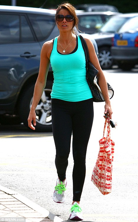Important part of her day: Melanie Sykes, seen here arriving at the gym, recently admitted that being fit has improved her sex life