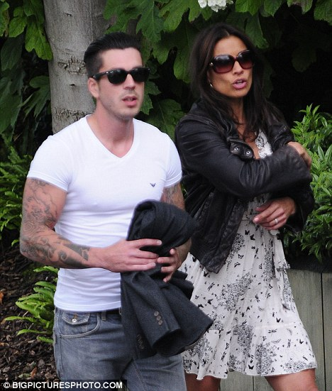 Happy couple: Sykes and Jack Cockings went for drinks last week to celebrate their engagement