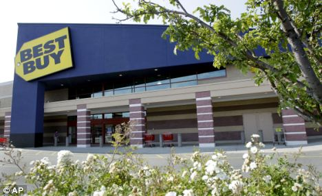Struggling: Best Buy has withdrawn its earnings guidance for the year after reporting a dramatic fall in profits
