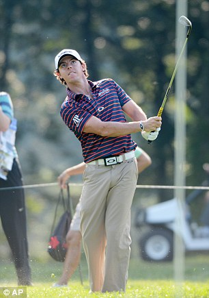 Warming up: Rory McIlroy at Bethpage