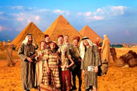 The Weasley family in Egypt.