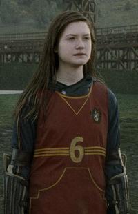 Ginny in her Quidditch uniform.