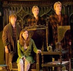 Ron, Ginny, Fred and George learn that their father had been attacked.