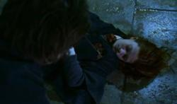 Ginny dying on the floor of the Chamber of Secrets.