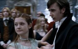 Ginny and Neville at the Yule Ball.