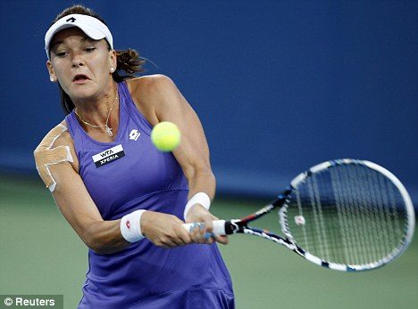 Worry: Agnieszka Radwanska pulled out of her first match at New Haven