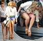 Mind the gap! The Saturdays' Vanessa White struggles to get out of car... as the girls show off their legs