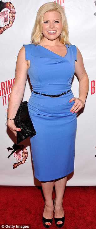 Colourful: Smash stars Megan Hilty (L) and Krysta Rodriguez lit up the red carpet in their eye-catching frocks