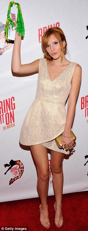 She's got cheer: Bella was attending the Broadway opening of Bring It On: The Musical