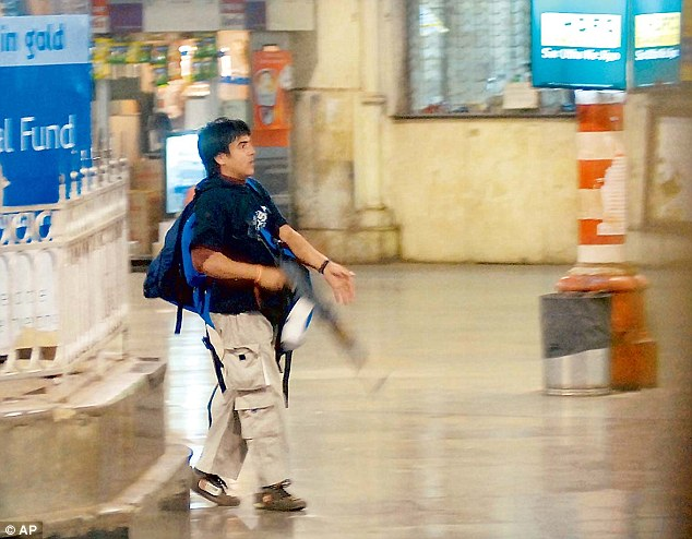 Gunman Mohammad Ajmal Qasab unleashes terror at CST in Mumbai