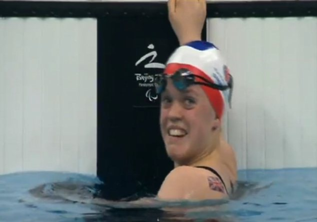 One to watch: Ellie Simmonds won gold in the 100m and 400m freestyle events in the S6 disability category.