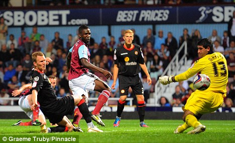 Hammer time: West Ham's Modibo Maiga scored on his first start for the club