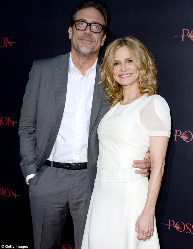 Dynamic duo: Kyra posed up with Jeffrey Dean Morgan, who plays her ex-husband in the movie