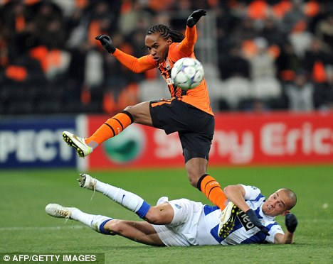 No go: Shakhtar Donetsk have turned down Spurs' latest bid for Willian (top)