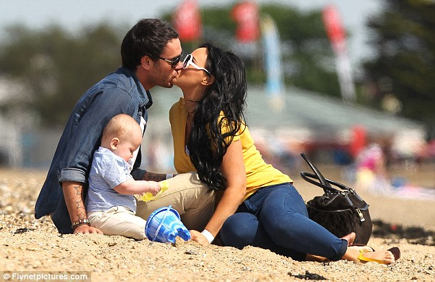 Family day out: Jack has also formed a strong relationship with Chanelle's son Blakely