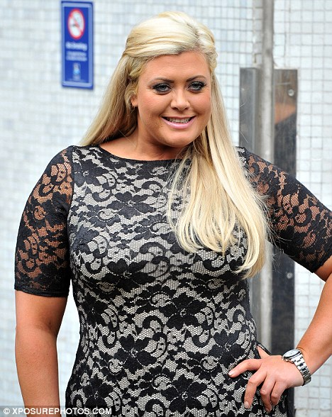 Confident woman: The TOWIE star looked chuffed as she posed for the cameras with her hand on her hip