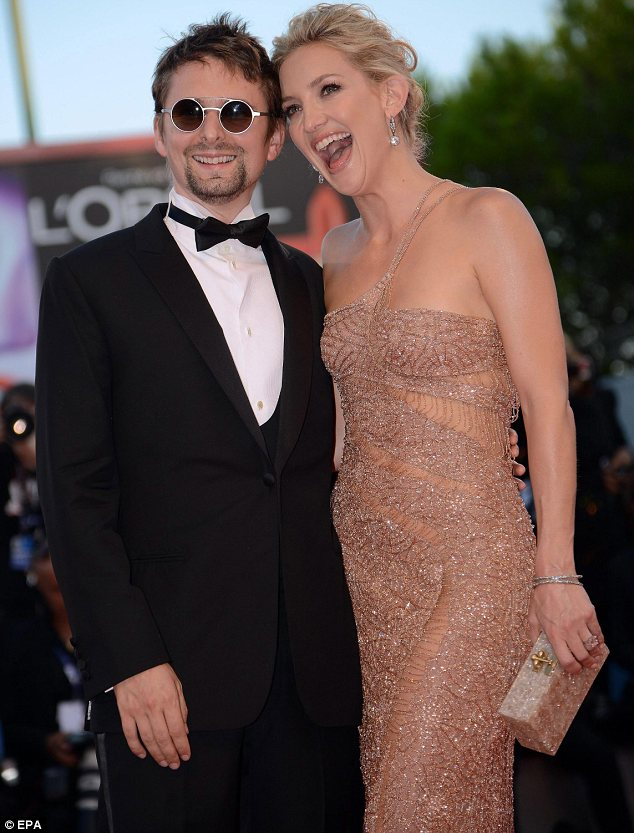 Best supporting fiance: Matt and Kate looked madly in love as they posed for photographers