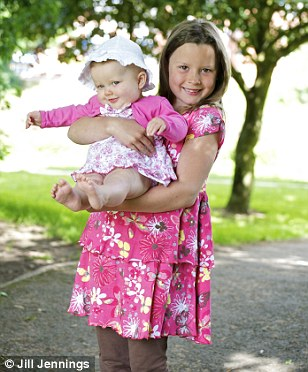 Charley Holmes and baby sister Scarlet