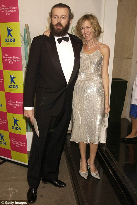Eva Rausing with her Tetra Pak billionaire husband, Hans. He was given a ten-month suspended prison sentence earlier this month after admitting he denied his wife 'a decent and lawful burial'
