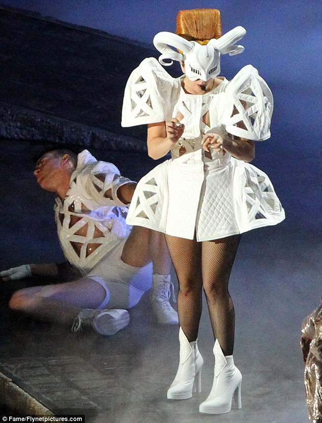 Quirky: Gaga endures 15 outfit changes on her Born This Way Ball tour which will come to the UK next month
