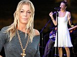 Well that was quick! LeAnn Rimes leaves rehab after just one week... to perform in concert