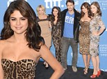Wild one of the pack! Selena Gomez stands out among her Spring Breakers co-stars in a VERY low-cut leopard print dress