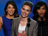CHARLOTTE, NC - SEPTEMBER 06: Actress Scarlett Johansson speaks on stage