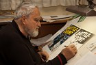 Russ Heath at the drawing table